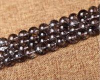 クラック水晶 (爆裂水晶) カラー 黒色 ブラック 6mm〜12mm パワーストーン 卸販売