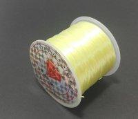 オペロンゴム イエロー 水晶の線 ブレスレット作成用 太さ約0.8mm 長さ約70m ポリウレタン シリコンゴム
