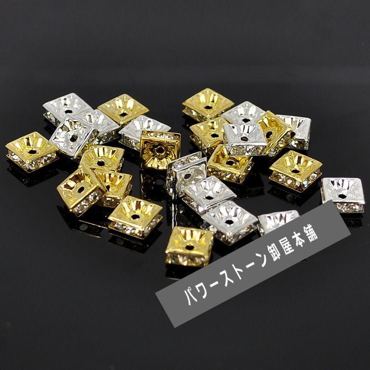 四角ロンデル 100個セット サイズ 6mm〜10mm アクセサリーパーツ 天然石 激安 RON,17