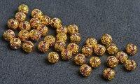 ボールロンデル (くす玉ロンデル) 100個セット ピンク 6mm〜10mm アクセサリーパーツ 天然石 激安 RON-4