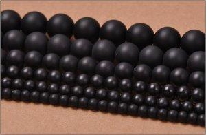 画像2: マットオニキス (ブラックオニキス) 丸玉 4mm〜12mm ラウンドカット 天然石 卸売