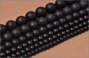 画像1: マットオニキス (ブラックオニキス) 丸玉 4mm〜12mm ラウンドカット 天然石 卸売