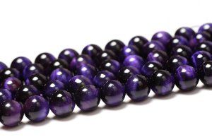 画像3: パープルタイガーアイ 紫虎眼石 希少 丸玉 6mm〜14mm 数珠 念珠 卸売り