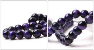 画像4: パープルタイガーアイ 紫虎眼石 希少 丸玉 6mm〜14mm 数珠 念珠 卸売り