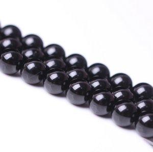 画像1: ブラックトルマリン ショールトルマリン 4mm〜12mm パワーストーン 卸販売