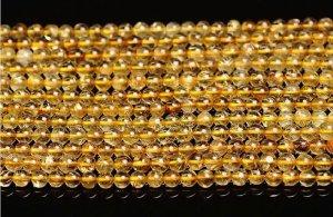 画像1: ルチルクォーツ ゴールデンルチル 高品質 4mm〜14mm パワーストーン 天然石 卸
