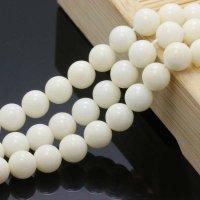 人工白珊瑚 ホワイトコーラル 一連売り 4mm〜10mm 丸玉 激安卸