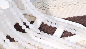 画像3: 白瑪瑙 (めのう) ホワイトアゲート 64面カット 4mm〜10mm パワーストーン 卸売