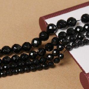 画像1: ブラックオニキス 64面カット 4mm〜12mm 天然石 卸売