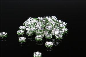 画像2: 波型 ロンデル シルバー×グリーン 1000個セット サイズ 4mm〜12mm アクセサリーパーツ 天然石 激安 スワロフスキー