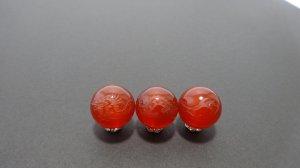 画像1: 彫りレッドアゲート 四神 青龍 素彫り 8mm〜14mm  風水 四神獣 彫刻水晶