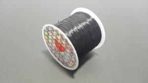 画像1: オペロンゴム ブラック 水晶の線 ブレスレット作成用 太さ約0.8mm 長さ約70m ポリウレタン シリコンゴム
