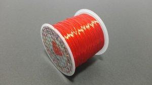 画像1: オペロンゴム レッド 水晶の線 ブレスレット作成用 太さ約0.8mm 長さ約70m ポリウレタン シリコンゴム