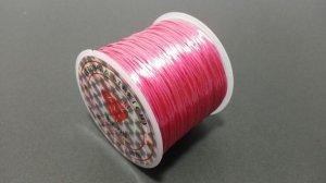 画像1: オペロンゴム サーモンピンク 水晶の線 ブレスレット作成用 太さ約0.8mm 長さ約70m ポリウレタン シリコンゴム