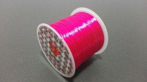 画像1: オペロンゴム マゼンタ 水晶の線 ブレスレット作成用 太さ約0.8mm 長さ約70m ポリウレタン シリコンゴム