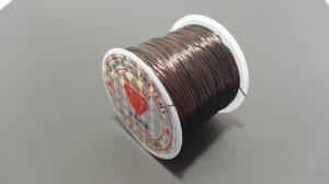 画像1: オペロンゴム ブラウン 水晶の線 ブレスレット作成用 太さ約0.8mm 長さ約70m ポリウレタン シリコンゴム