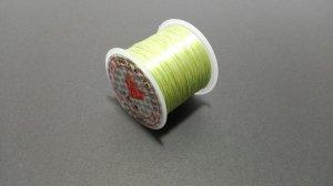 画像1: オペロンゴム ライトグリーン 水晶の線 ブレスレット作成用 太さ約0.8mm 長さ約70m ポリウレタン シリコンゴム