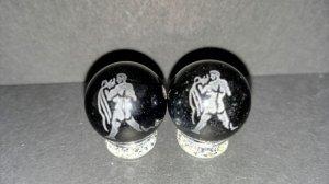 画像1: 彫りオニキス 12星座 素彫り 8mm〜14mm 誕生月 彫刻水晶 連販売