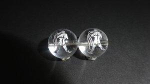 画像1: 彫り水晶 12星座 銀彫り 8mm〜14mm 誕生月 彫刻水晶 連販売