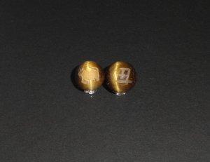 画像2: 彫りタイガーアイ 干支 (十二支) 素彫り 8mm〜14mm 誕生月 彫刻水晶 連販売
