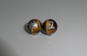 画像2: 彫りタイガーアイ 干支 (十二支) 銀彫り 8mm〜14mm 誕生月 彫刻水晶 連販売