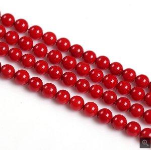 画像1: 人工赤珊瑚 レッドコーラル 一連売り 4mm〜10mm 丸玉 激安卸 ANO-8